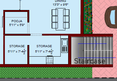 Staircase in 2D House Plans